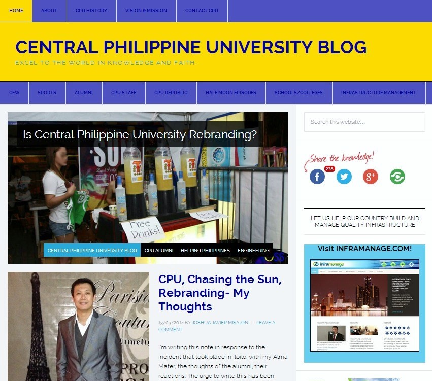 Central Philippine University Blog — Excel to the World in Knowledge and Faith.